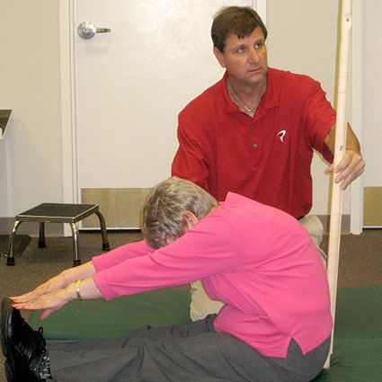 Dr. Michael Voight Demonstrating movements during the FMS Course