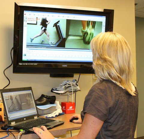 Video gait analysis for running rehab course for physical therapy