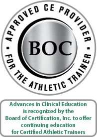 Approved CE Provider for the Athletic Trainer TRAC Badge 2015